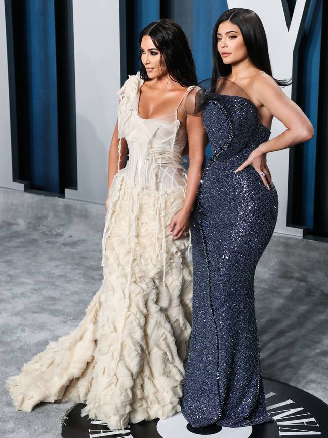 Kylie Jenner (right) with her sister Kim Kardashian West (left). Credit: PA