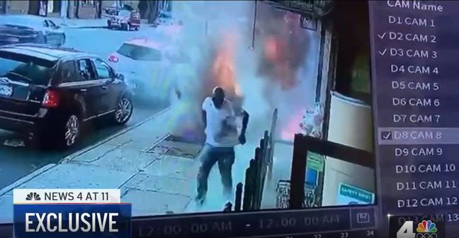 The man managed to escape the fire. Credit: NBC New York