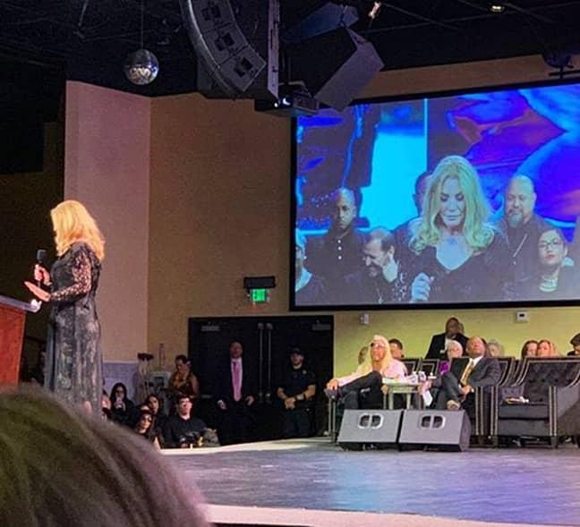 Friends speaking at Beth's memorial service on Saturday. Credit: Instagram/@dogthebountyhunterteam