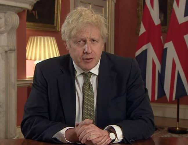 Boris Johnson announced a third national lockdown in England. Credit: BBC