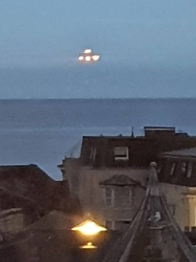 Ship on the horizon, or conclusive proof of alien life? Credit: SWNS