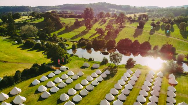 The festival is surrounded by serene countryside. Credit: El Dorado