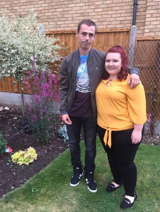 Megan and her boyfriend, Kieran Allen. Credit: Kennedy News and Media