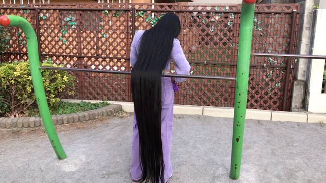 Japanese Rapunzel Hasn't Had Haircut In 15 Years