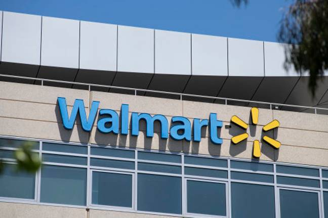 The woman has now been banned from Walmart after police were rung. Credit: PA