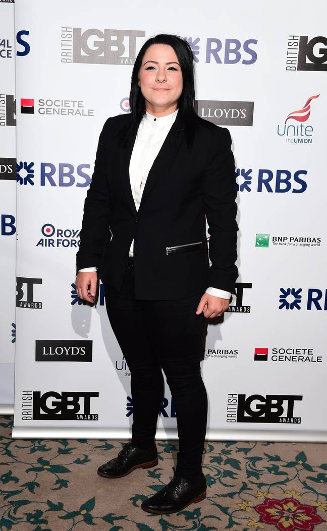 Lucy Spraggan in 2015 at the British LGBT Awards. Credit: PA