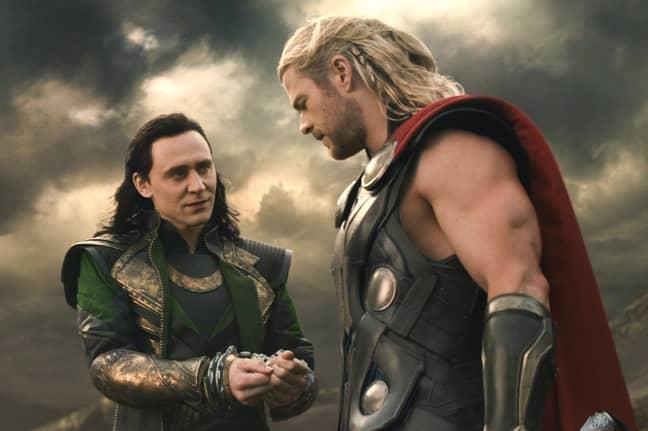 Hemsworth (right) as Thor. Credit: Marvel