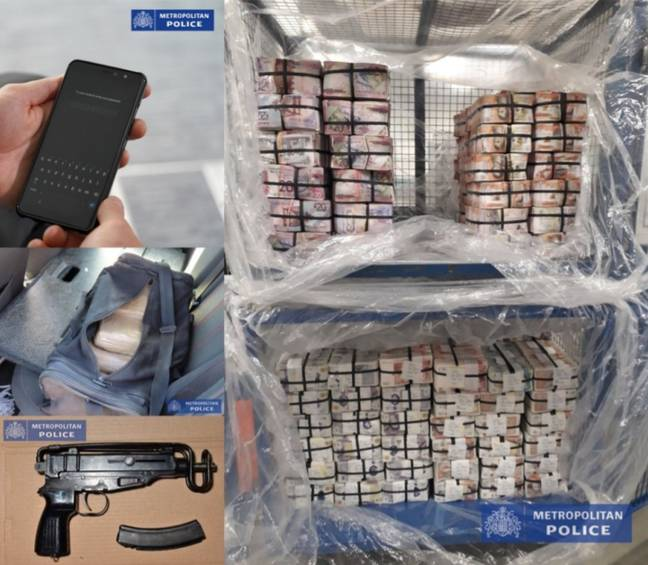 Items seized during Operation Eternal. Credit: Metropolitan Police