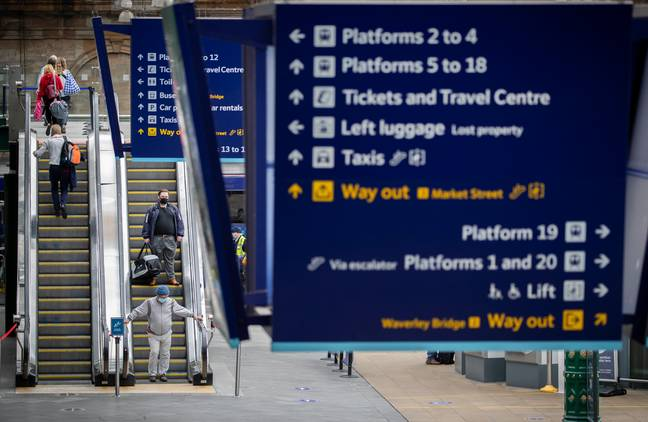 The train will travel from King's Cross to Edinburgh Waverley. Credit: PA