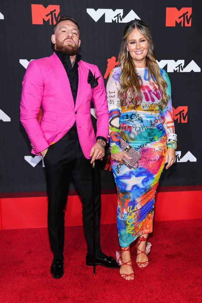 McGregor with fiancée Dee Devlin. Credit: PA
