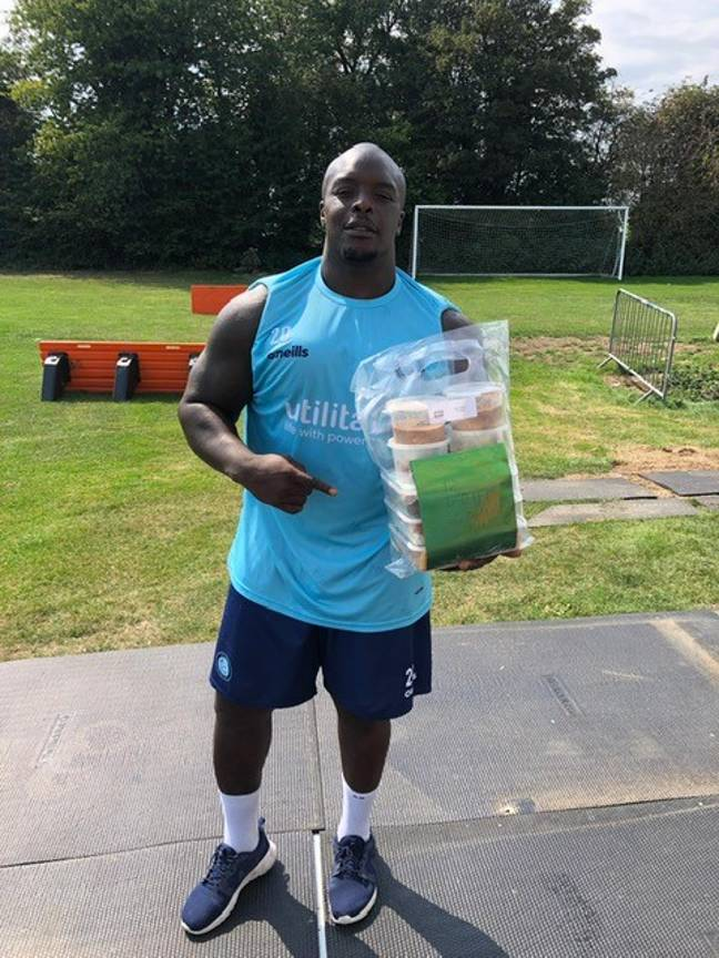Adebayo Akinfenwa, one of Jhai and Simmy's clients. Credit: Jhai Dhillon/Rice n Spice