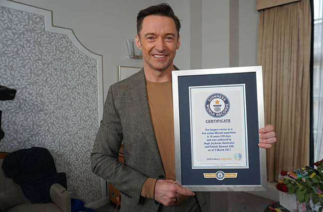 Hugh Jackman has been awarded with a Guinness World Record. Credit: Guinness World Record