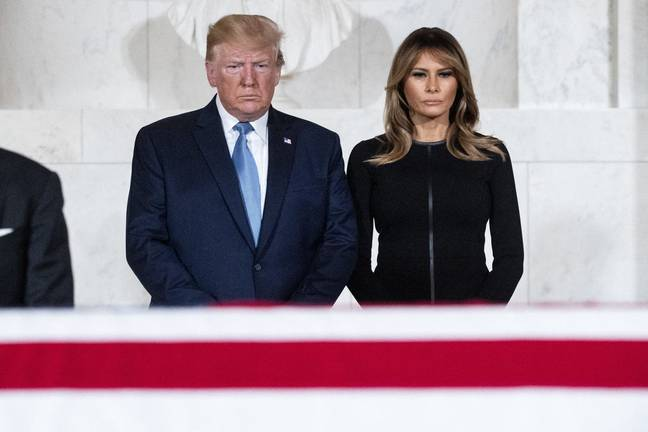 Melania and Donald Trump. Credit: PA