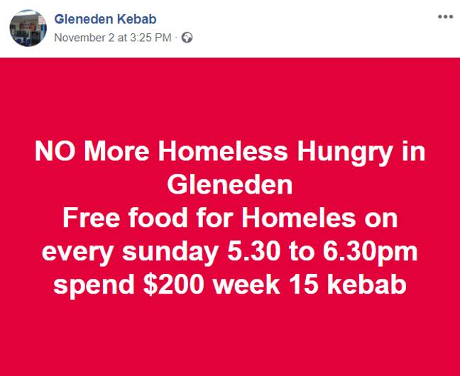 Credit: Glen Eden Kebab/Facebook