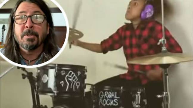 Foo Fighters' Dave Grohl Has Admitted Defeat In Drum Battle With 10-Year-Old. Credit: CBS