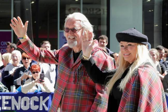 Billy and Pamela at the 2019 Tartan Day Parade in New York. Credit: PA