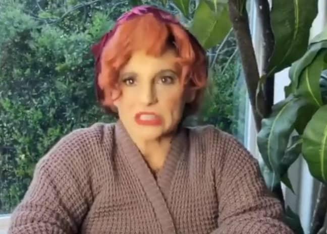 Ariana's mum, Joan Grande starring as Mama Boucher. Credit: Instagram/arianagrande