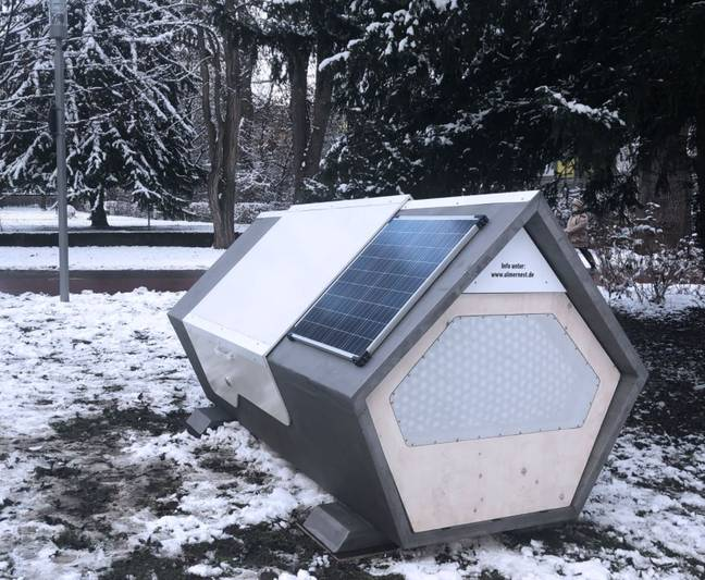 The pods have been installed to support rough sleepers. Credit: Ulmer Nest