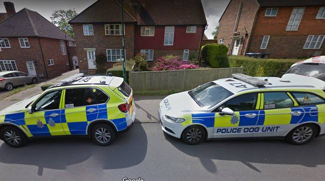 The police cars and ambulance showed up. Credit: Google Maps
