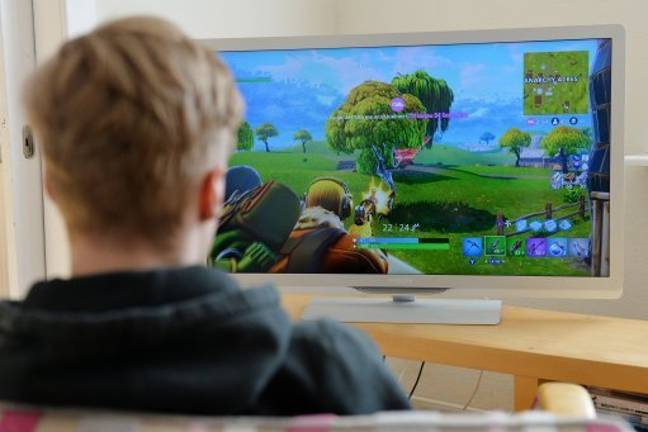 Stock image of a boy playing Fortnite. Credit: PA