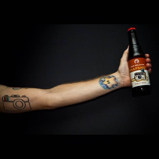 Gregorio's Instagram tattoo. Credit: Jam Press