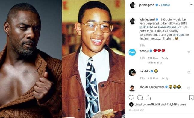 John Legend joked about his win on Instagram. Credit: Instagram