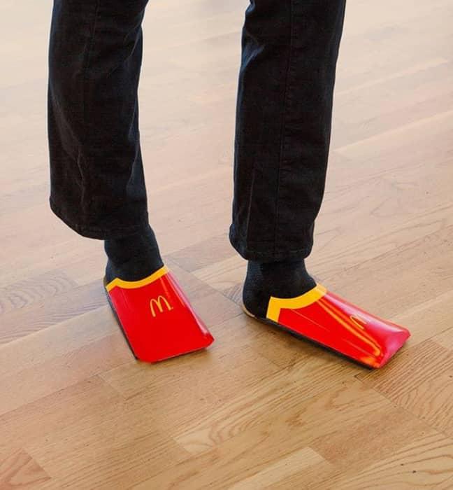 The McDonald's 'shoes'. Credit: Instagram/McDonald's Sweden