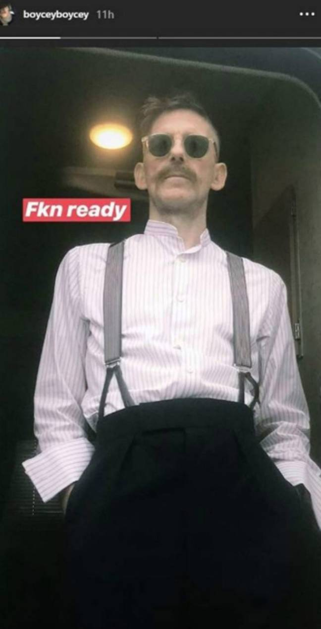 ...and now he's ready, apparently. 'Fkn' ready, no less. Credit: boyceyboycey/Snapchat