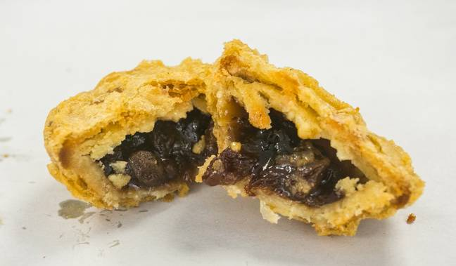 Battered mince pies are apparently 'lovely'. Credit: SWNS