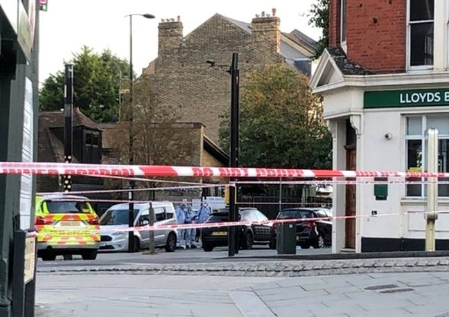 The incident happened near a Lloyds Bank. Credit: PA