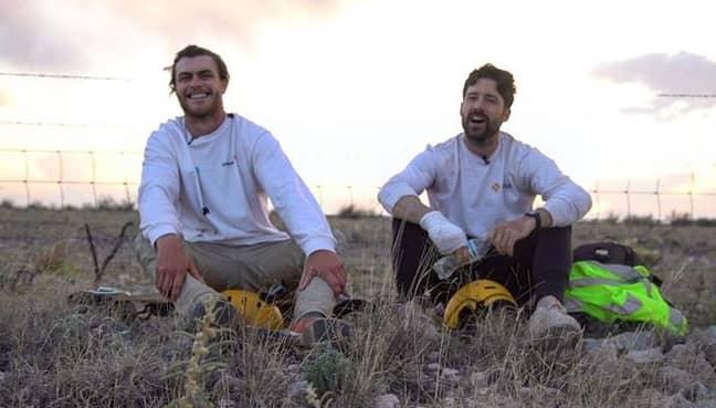 Dan (L) and Dwayne (R) travelled across Texas. Credit: Instagram/lonestarskate