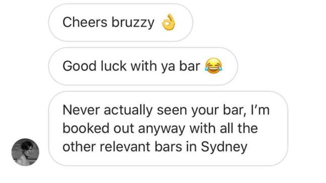 Jarra did not seem to take rejection well. Credit: Instagram