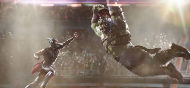 Bobby snapped his 'groin of the bone' while filming the Thor vs Hulk gladiator scene from Thor: Ragnarok. Credit: Disney/Marvel