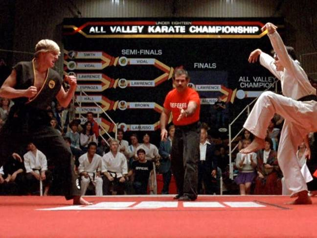 Karate Kid's Famous Crane Kick