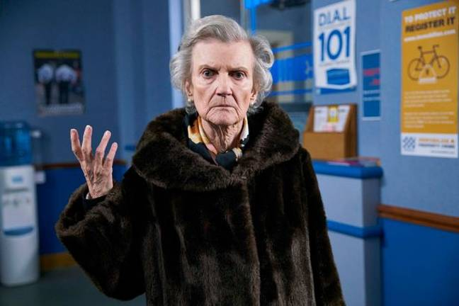 Knight played Grandma Goodman in Friday Night Dinner. Credit: Channel 4