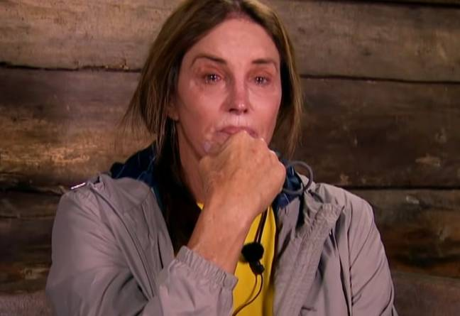 Caitlyn Jenner has been in tears a few times in the jungle. Credit: ITV