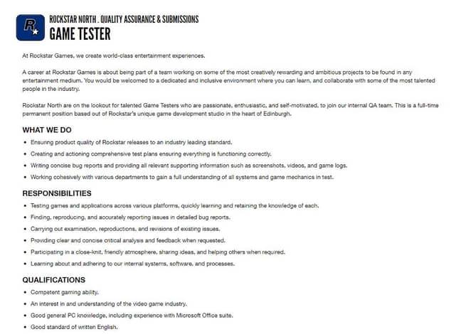 Here's the job description. Credit: Deadline News