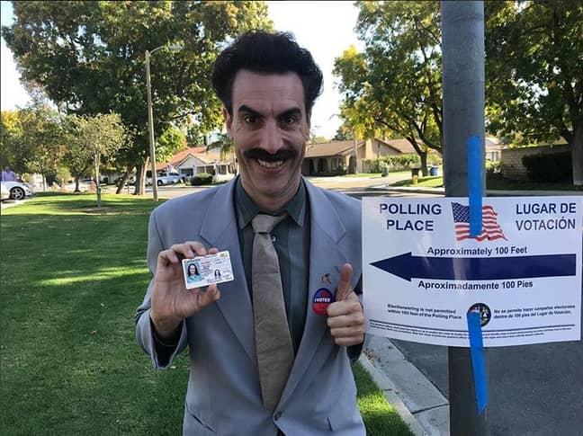 Sacha Baron Cohen as Borat. Credit: Instagram/Sacha Baron Cohen