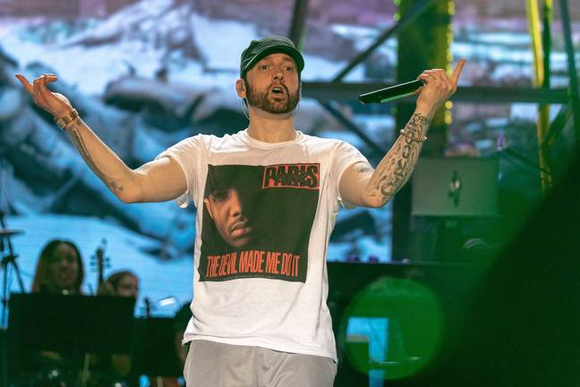 Eminem at Bonnaroo Music Festival in 2018. Credit: PA