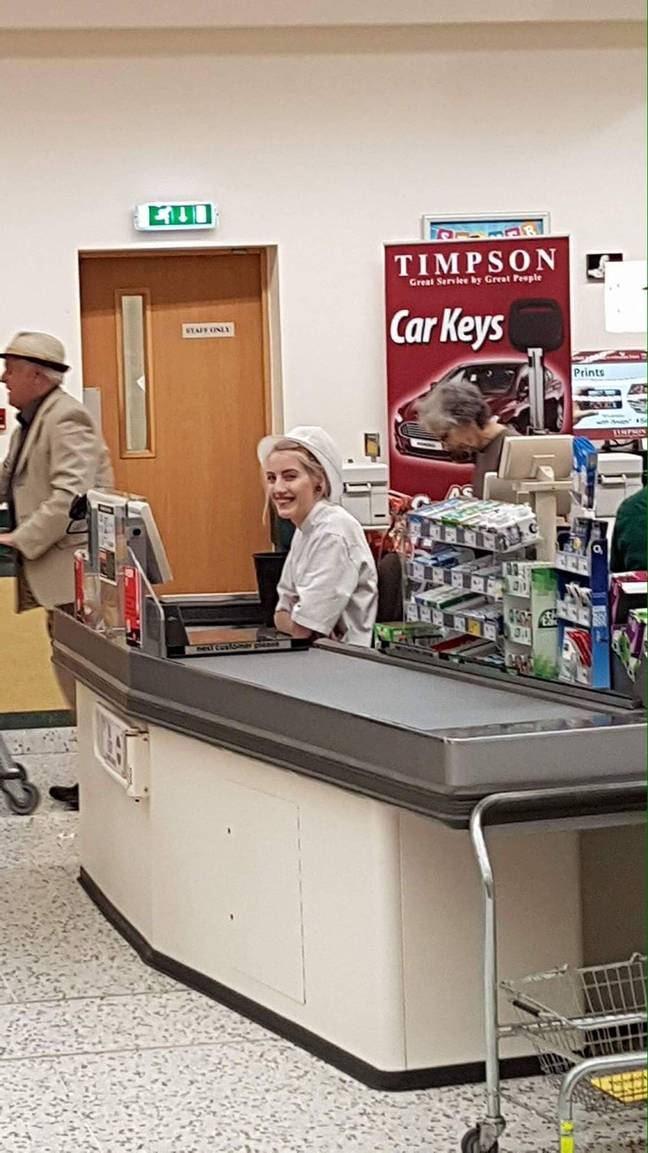 Ally Mae when she worked in Morrisons. Credit: Triangle News