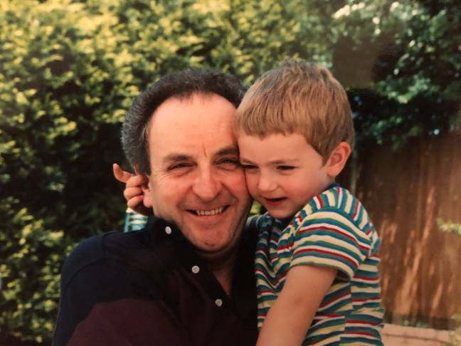 Simon and his dad in 1991. Credit: Simon Jay