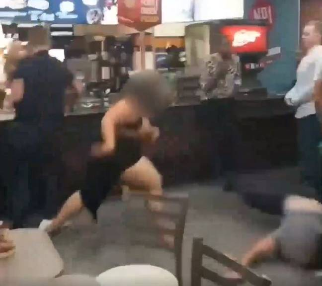 People were shocked with the footage. Credit: Twitter