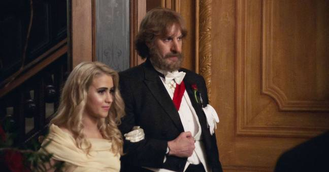 Bakalova and Baron Cohen make a formidable duo in the film. Credit: Amazon Prime