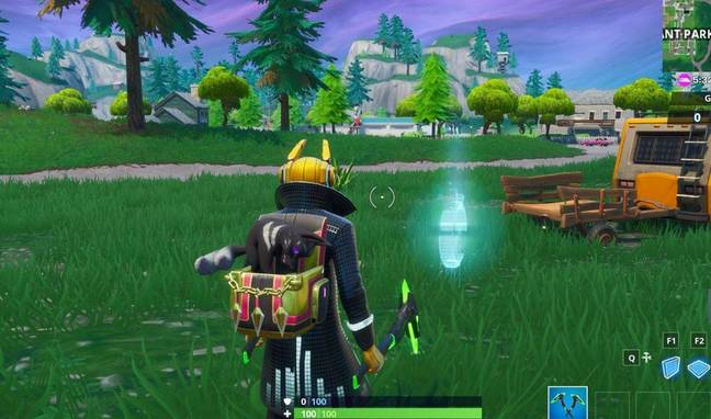 Where is the Time Trial East Of Pleasant Park? Credit: Epic Games