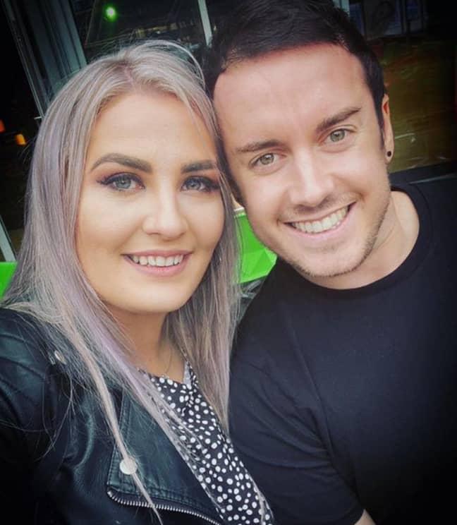 Twigg with fiancée Rhiannon Craddock. Credit: Jack Twigg