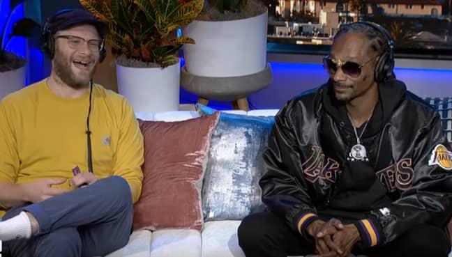 Snoop made the revelation alongside Seth Rogen on The Howard Stern Show. Credit: The Howard Stern Show