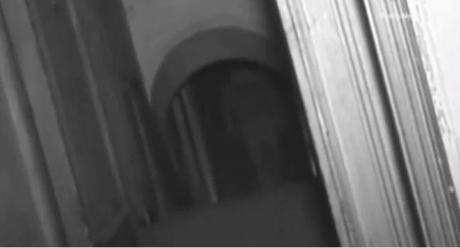 Genuine ghost or some bloke in a hoodie - you decide. Credit: Really