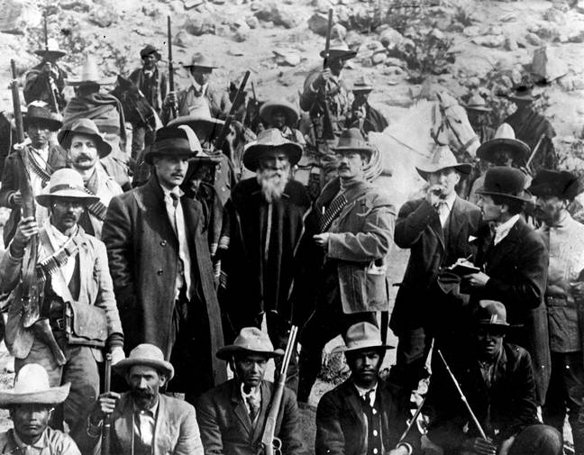 The Mexican Revolution in 1913. Credit: PA