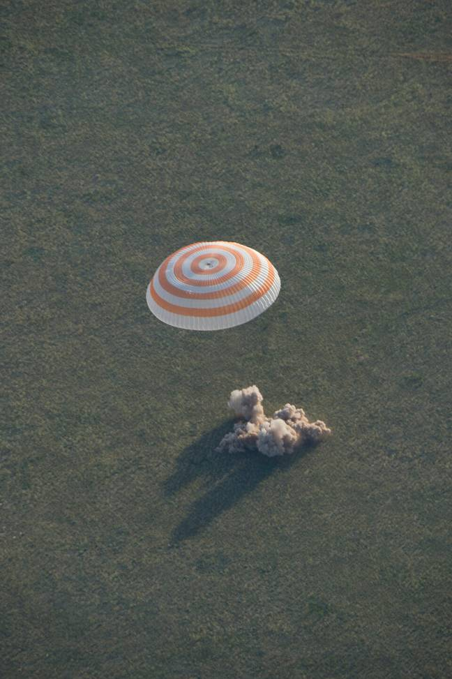 The Soyuz TMA-15M spacecraft safely landed back on Earth on 11 June 2015, after Cristoforetti had spent almost 200 days in space. Credit: ESA