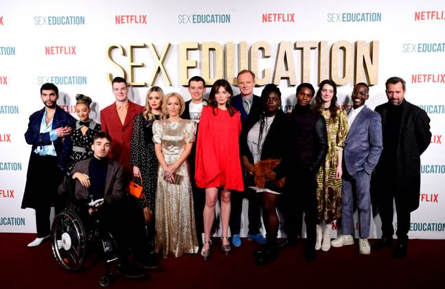 Sex Education cast at the premiere. Credit: PA
